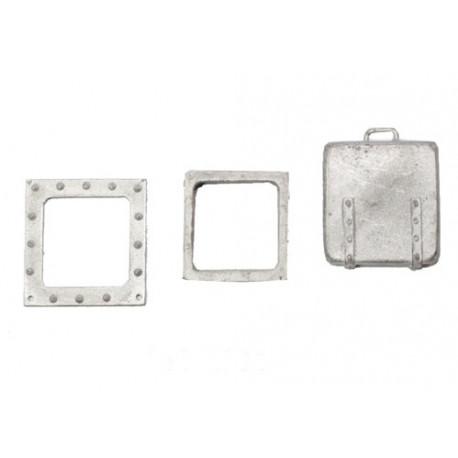 Escotilla de cubierta de metal de 15mm